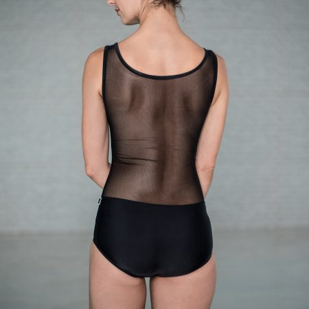 Leotard BLACK with tulle back